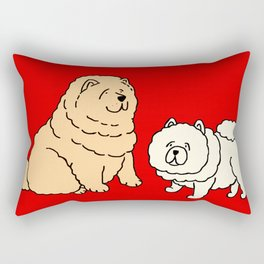 Chow Chow Dog Couple Rectangular Pillow