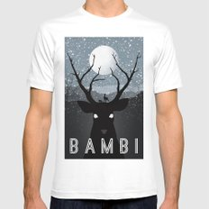 Bambi MEDIUM Mens Fitted Tee White