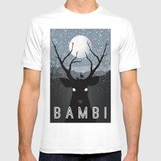Bambi MEDIUM White Mens Fitted Tee