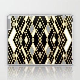 Art Deco Grey Gold Laptop & iPad Skin