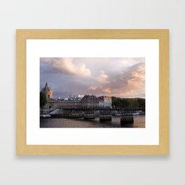 Seine Sunset Framed Art Print