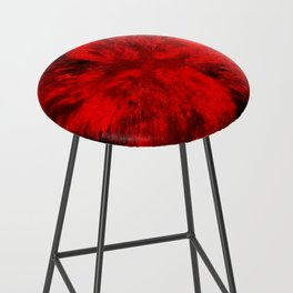 Fire Behind Glass (Red series #11) Bar Stool