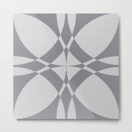 Abstract Circles - Gray Metal Print