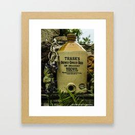 Old Beer Keg Framed Art Print