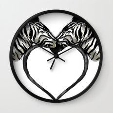 Zebra Love Wall Clock