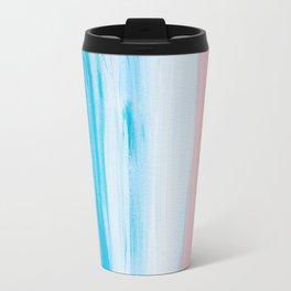 Aqua & Pink Abstract Travel Mug