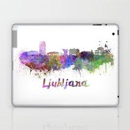 Ljubljana skyline in watercolor Laptop & iPad Skin
