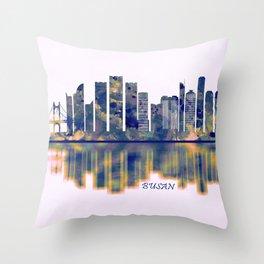 Busan Skyline Throw Pillow
