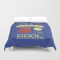 fez Duvet Covers featuring I Wear A Fez Now by Posters 4 Progress