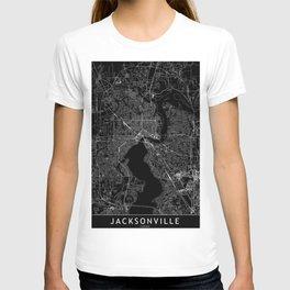 Jacksonville Black Map T-shirt