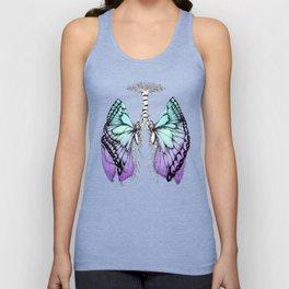 Butterfly Lungs Blue Purple Unisex Tank Top