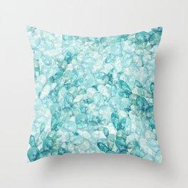 green cactus watercolor pattern Throw Pillow