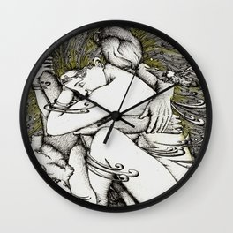 Lovers in the sky Wall Clock