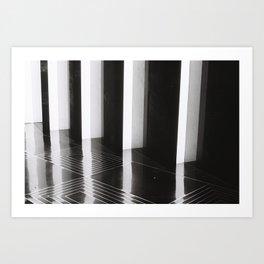Rockefeller Center, B+W Art Print