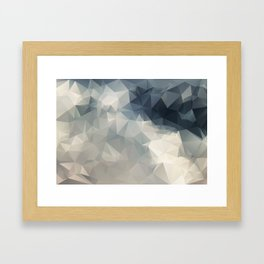 LOWPOLY GEOMETRIC SKY Framed Art Print