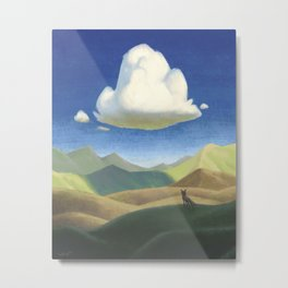 Cloud and Coyote Metal Print