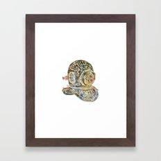 Vingt mille lieues Framed Art Print