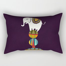 Elephant Circus Rectangular Pillow