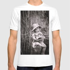 Under the Willow Tree II MEDIUM Mens Fitted Tee White