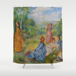 """Auguste Renoir """"Jeunes filles jouant au volant"""" Shower Curtain"""