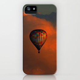 Balloon flight at sunset iPhone Case