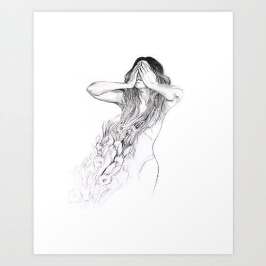 Rabbit Ghost Art Print