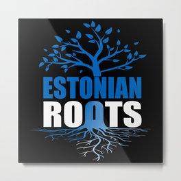 Estonian Roots Metal Print