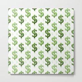 Dollar Sign Pattern Metal Print