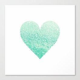 SEAFOAM HEART Canvas Print