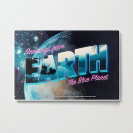 Greetings from Earth, The Blue Planet Metal Print