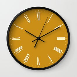 Golden Yellow Roman Numerals Wall Clock Wall Clock