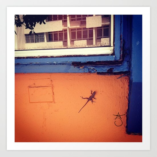 Lizard in Puerto Rico Art Print