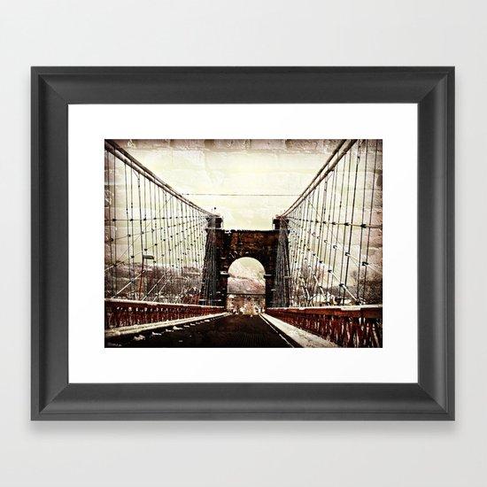 The End Of Suspension Framed Art Print