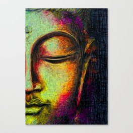 Buddha portrait Canvas Print
