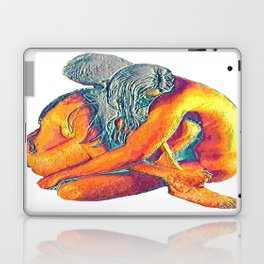 Hug o' War   Hug of War Nude Couple Cuddling Laptop & iPad Skin