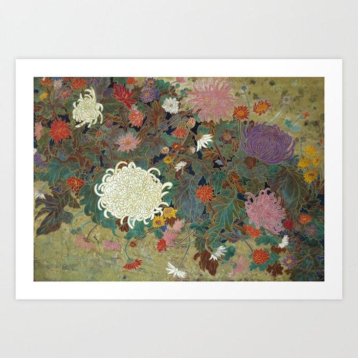 flower【Japanese painting】 Art Print