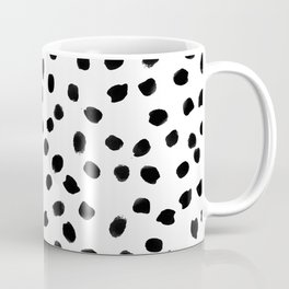 Black daps on white Coffee Mug