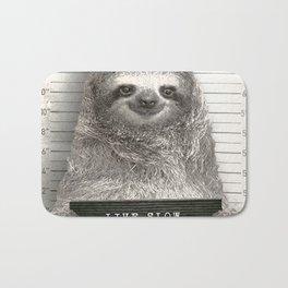 Sloth in a Mugshot Bath Mat