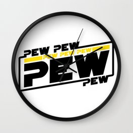 Pew pew pew - lightsaber sound Wall Clock