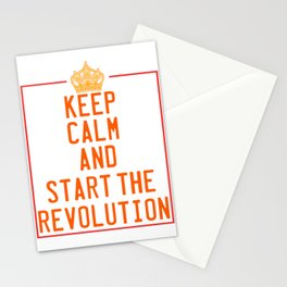 This is the awesome revolutionary Tshirt Those who make peaceful revolution Start the revolution Stationery Cards