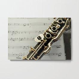 Clarinet Closeup Metal Print