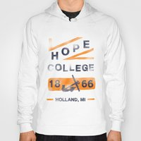 college Hoodies featuring Hope College by Joey Carty