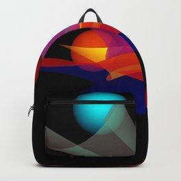waves on black -02- Backpack