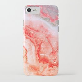 Luxury Rose Gold Agate Marble Geode Gem iPhone Case