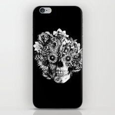 Floral Ohm skull from hand and digital illustration.  iPhone & iPod Skin