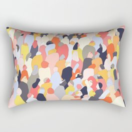 Crowded Rectangular Pillow
