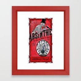 Vintage 1871 Red Absinthe Liquor Skeleton Elixir Aperitif Cocktail Alcohol Advertisement Poster Framed Art Print