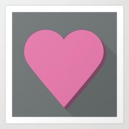 Flat heart Art Print