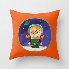Zoe Conquers The Moon Throw Pillow