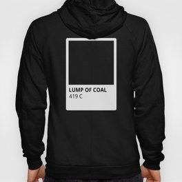 Holiday Color Lump of Coal Black Hoody